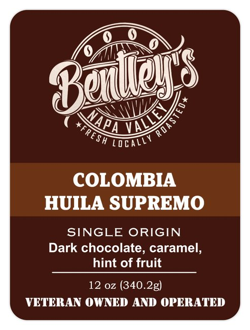 Bentley's - Colombia Huila Supremo - Single Origin