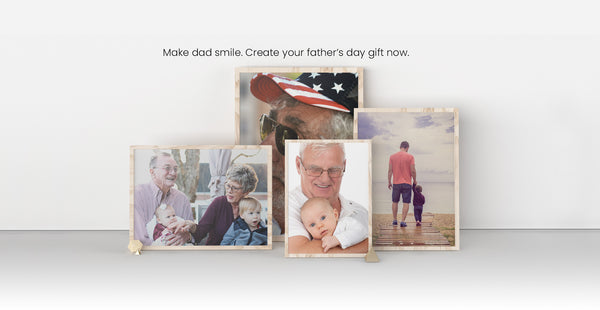 Make dad smile, create your father's day gift now!