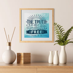 Ezposterprints - The Truth Will Set You Free - 12x12 ambiance display photo sample