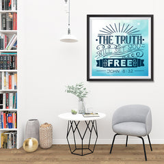Ezposterprints - The Truth Will Set You Free - 32x32 ambiance display photo sample