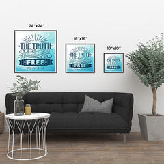 Ezposterprints - The Truth Will Set You Free ambiance display photo sample