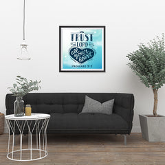 Ezposterprints - Trust In The Lord With All Your Heart - 24x24 ambiance display photo sample