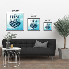 Ezposterprints - Trust In The Lord With All Your Heart ambiance display photo sample