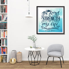 Ezposterprints - The Lord Is Strength Of My Life - 32x32 ambiance display photo sample