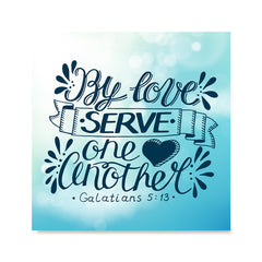 Ezposterprints - By Love Serve One Another