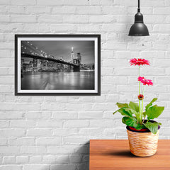 Ezposterprints - Brooklyn Bridge in Black and White - 12x08 ambiance display photo sample