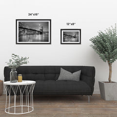 Ezposterprints - Brooklyn Bridge in Black and White ambiance display photo sample