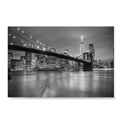 Ezposterprints - Brooklyn Bridge in Black and White