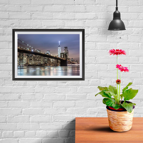 Ezposterprints - Brooklyn Bridge - 12x08 ambiance display photo sample