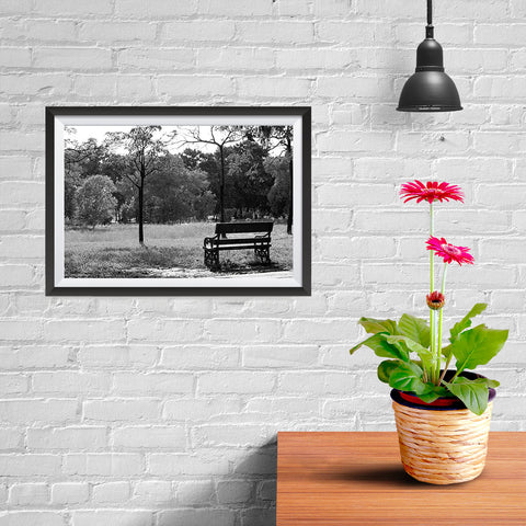 Ezposterprints - Bench In The Park - 12x08 ambiance display photo sample