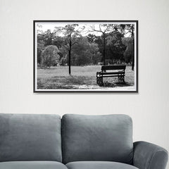 Ezposterprints - Bench In The Park - 24x16 ambiance display photo sample