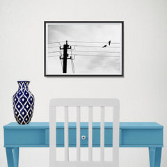 Ezposterprints - Birds On Wires - 18x12 ambiance display photo sample