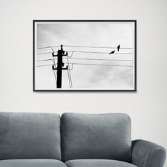 Ezposterprints - Birds On Wires - 24x16 ambiance display photo sample