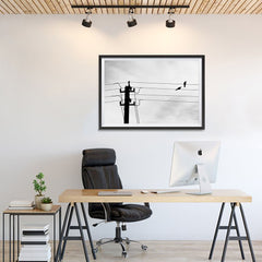 Ezposterprints - Birds On Wires - 36x24 ambiance display photo sample