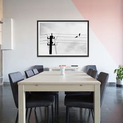 Ezposterprints - Birds On Wires - 48x32 ambiance display photo sample