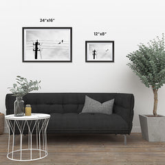 Ezposterprints - Birds On Wires ambiance display photo sample