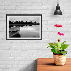 Ezposterprints - Boat In A Pond - 12x08 ambiance display photo sample