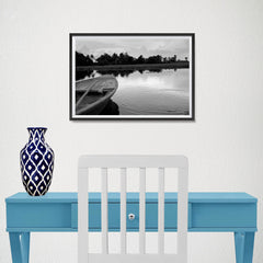 Ezposterprints - Boat In A Pond - 18x12 ambiance display photo sample