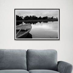 Ezposterprints - Boat In A Pond - 24x16 ambiance display photo sample