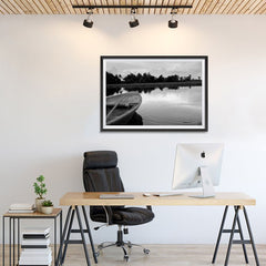 Ezposterprints - Boat In A Pond - 36x24 ambiance display photo sample
