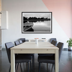 Ezposterprints - Boat In A Pond - 48x32 ambiance display photo sample