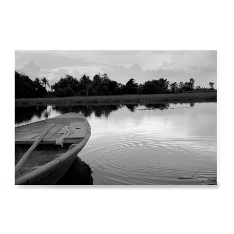Ezposterprints - Boat In A Pond