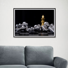 Ezposterprints - Gold King Of Chess - 24x16 ambiance display photo sample