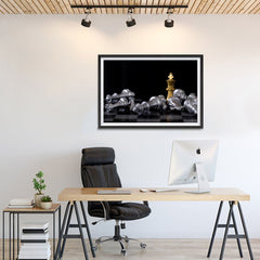 Ezposterprints - Gold King Of Chess - 36x24 ambiance display photo sample