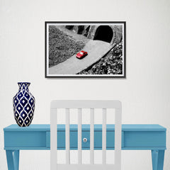 Ezposterprints - Red Miniature Car - 18x12 ambiance display photo sample