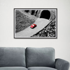 Ezposterprints - Red Miniature Car - 24x16 ambiance display photo sample