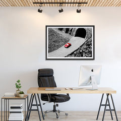Ezposterprints - Red Miniature Car - 36x24 ambiance display photo sample