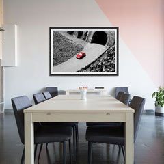 Ezposterprints - Red Miniature Car - 48x32 ambiance display photo sample
