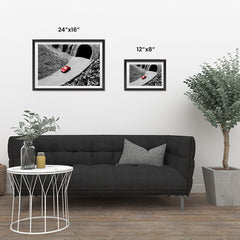 Ezposterprints - Red Miniature Car ambiance display photo sample