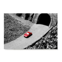 Ezposterprints - Red Miniature Car