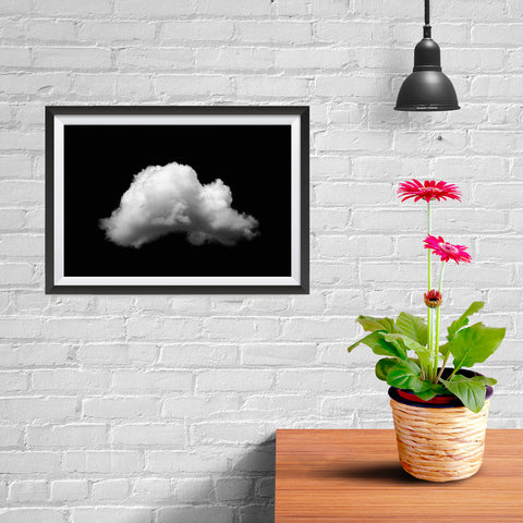 Ezposterprints - Single Cloud - 12x08 ambiance display photo sample