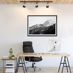 Ezposterprints - Snowy Mountain - 36x24 ambiance display photo sample