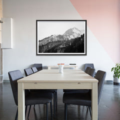 Ezposterprints - Snowy Mountain - 48x32 ambiance display photo sample