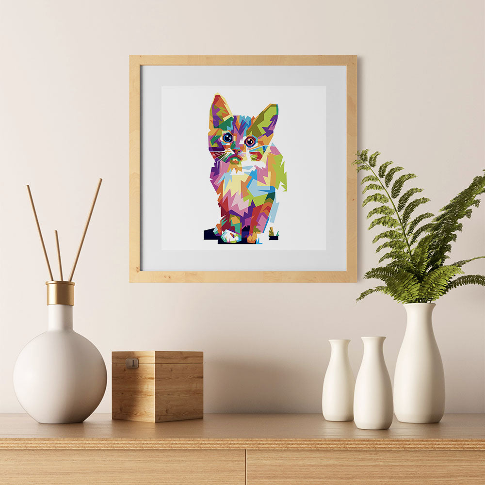 Ezposterprints - The Cat - Cubism - 12x12 ambiance display photo sample