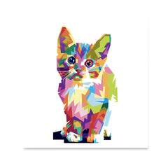 Ezposterprints - The Cat - Cubism -  ambiance display photo sample