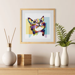 Ezposterprints - The Cat Hope - Cubism - 12x12 ambiance display photo sample