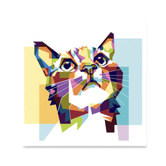 Ezposterprints - The Cat Hope - Cubism -  ambiance display photo sample