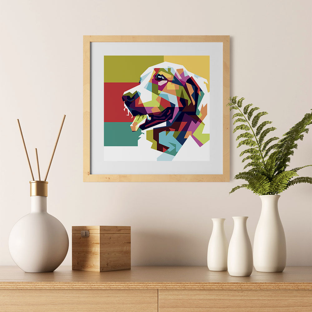Ezposterprints - The Dog - Cubism - 12x12 ambiance display photo sample