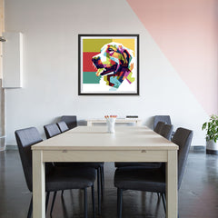 Ezposterprints - The Dog - Cubism - 32x32 ambiance display photo sample