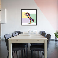 Ezposterprints - The Horse - Cubism - 32x32 ambiance display photo sample