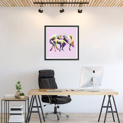 Ezposterprints - The Horse In Love - Cubism - 24x24 ambiance display photo sample