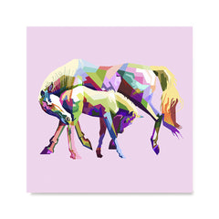 Ezposterprints - The Horse In Love - Cubism -  ambiance display photo sample