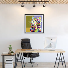 Ezposterprints - The Kitten - Cubism - 24x24 ambiance display photo sample