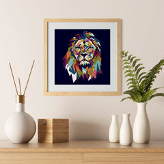Ezposterprints - The Lion - Cubism - 12x12 ambiance display photo sample