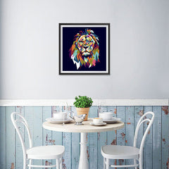 Ezposterprints - The Lion - Cubism - 16x16 ambiance display photo sample