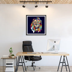 Ezposterprints - The Lion - Cubism - 24x24 ambiance display photo sample